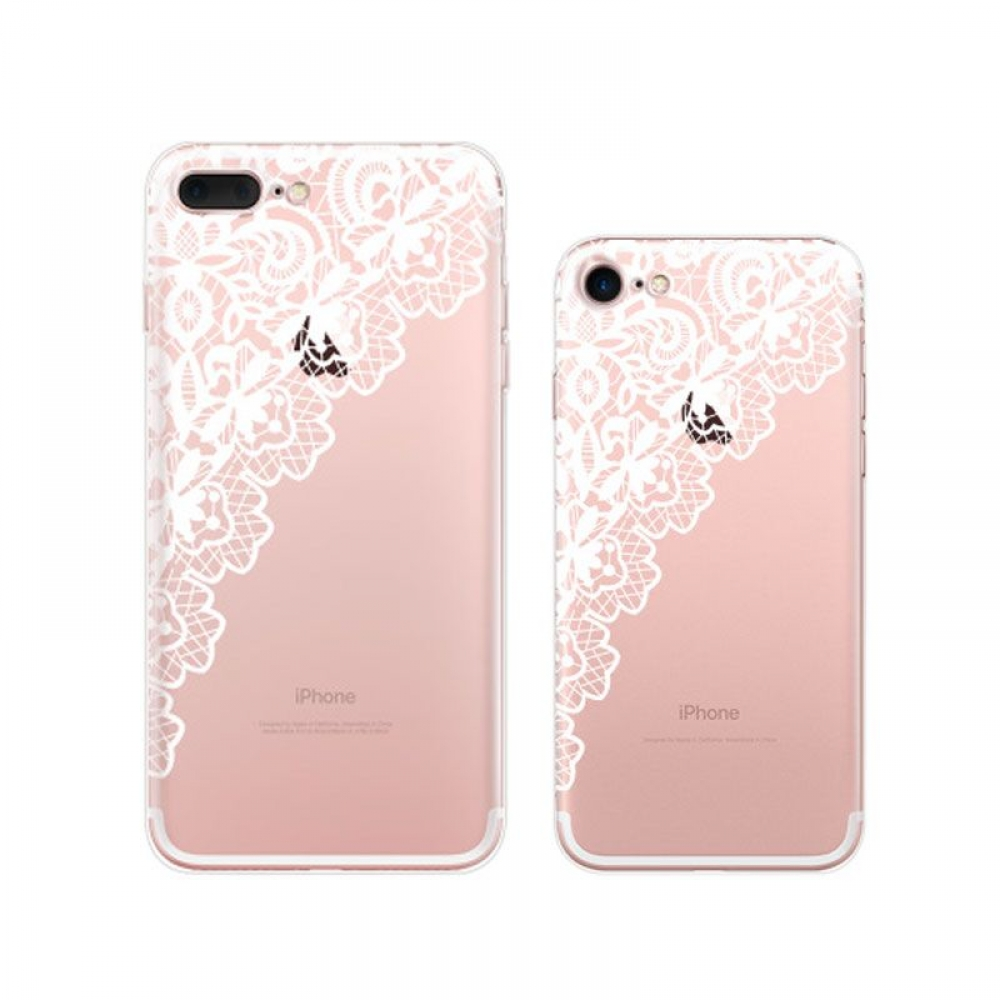 10% OFF + FREE SHIPPING, Buy Best PDair Top Quality iPhone Pattern Printed Soft Clear Case (White Lace) which is available for iPhone 8, iPhone 8 plus,iPhone 7, iPhone 7 plus. You also can go to the customizer to create your own stylish leather case if lo