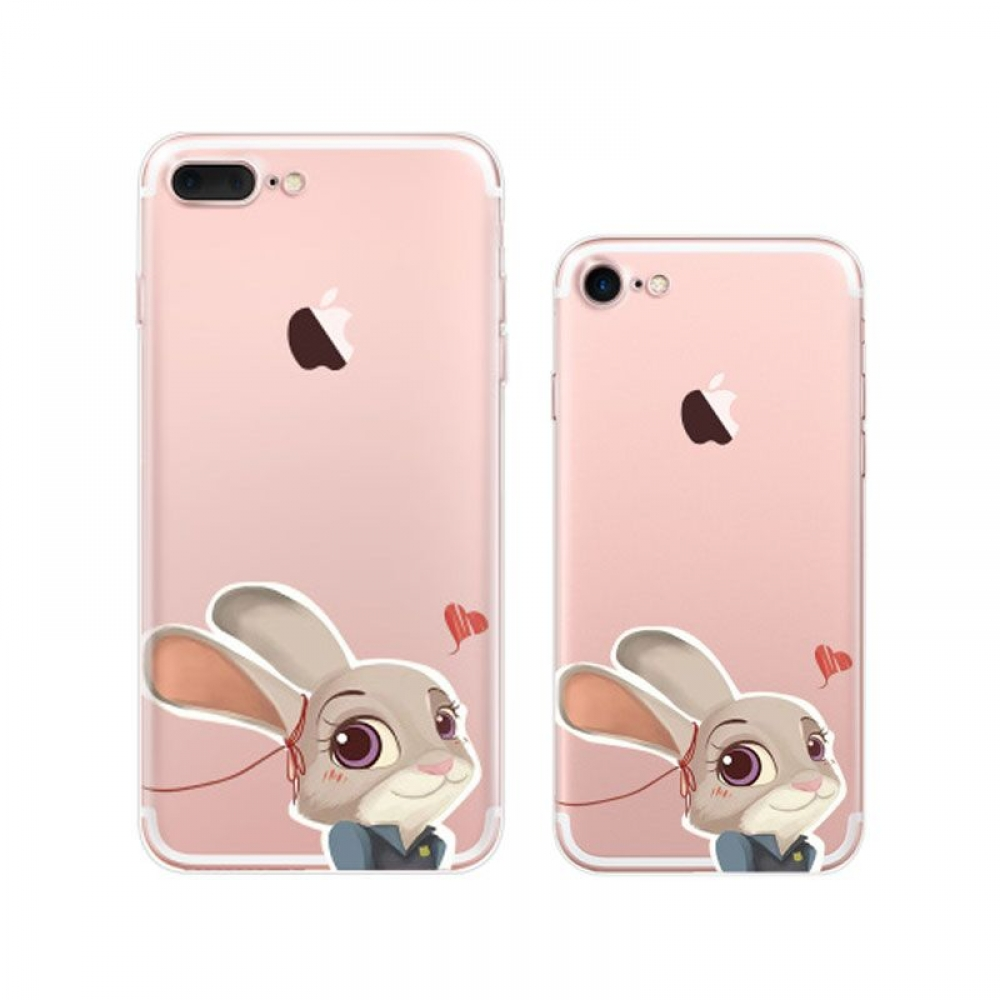 iPhone 7 7 Plus Pattern Printed Soft Clear Case (Zootopia Judy Hopps) PDair
