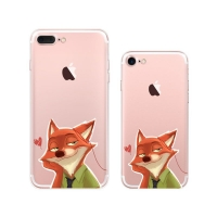 iPhone 7 7 Plus Pattern Printed Soft Clear Case (Zootopia Nick Wilde) PDair