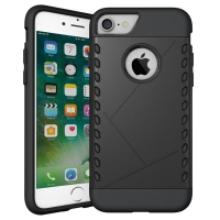 Hybrid Combo Aegis Armor Case Cover for Apple iPhone 7 (Black)