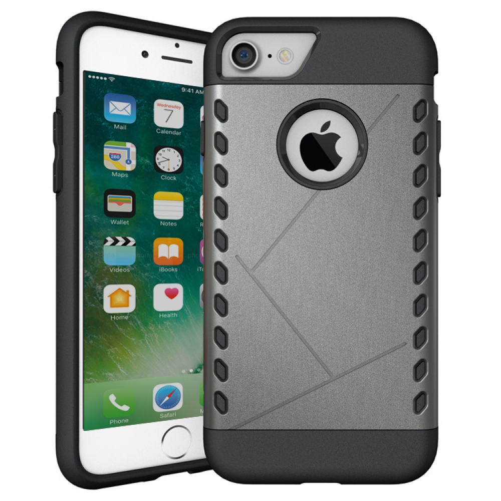 iPhone 7 Hybrid Combo Aegis Armor Case Cover (Grey) :: PDair