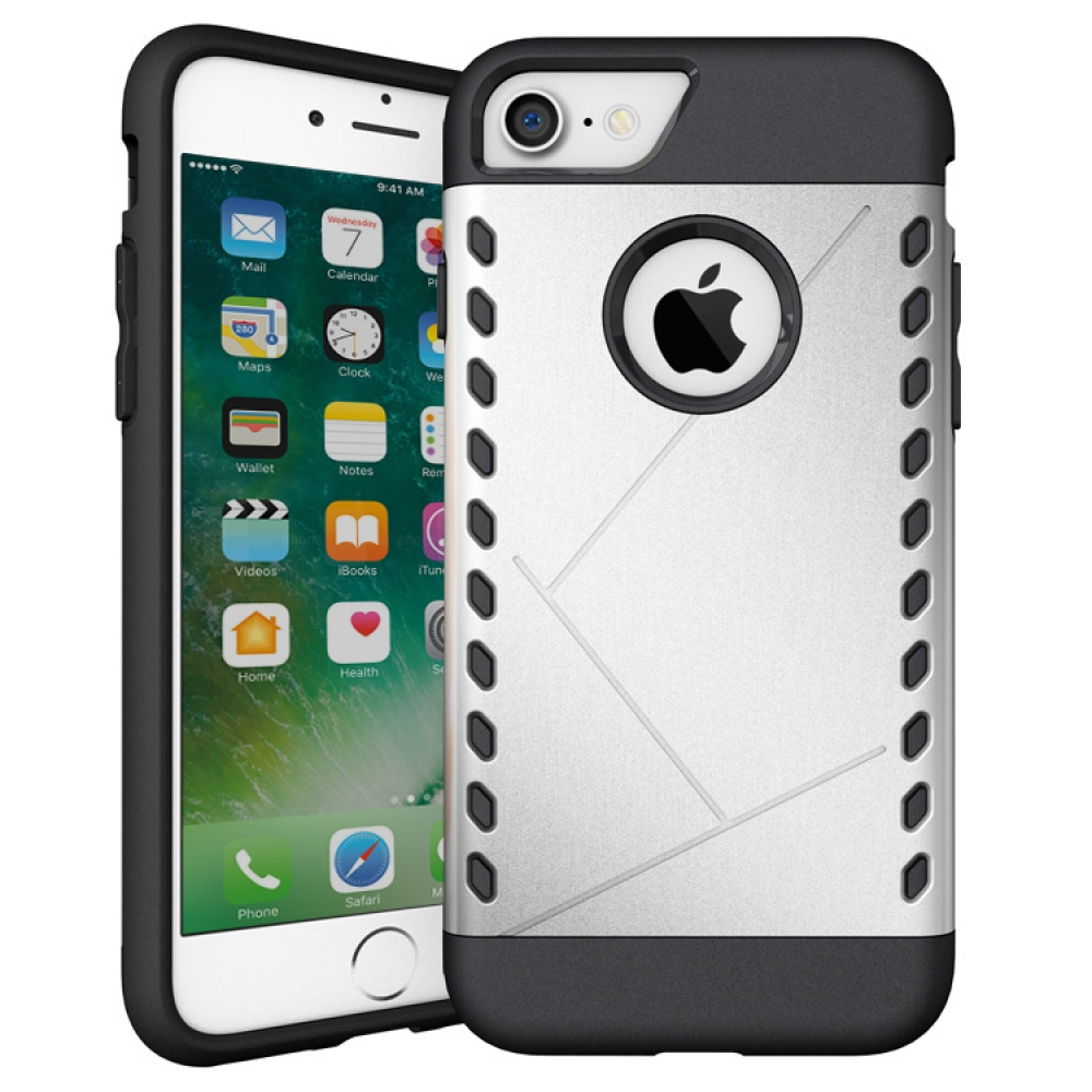 10% OFF + FREE SHIPPING, Buy Best PDair Premium Protective iPhone 7 Hybrid Combo Aegis Armor Case Cover (Silver) online.. Designed for iPhone 7. You also can go to the customizer to create your own stylish leather case if looking for additional colors, pa