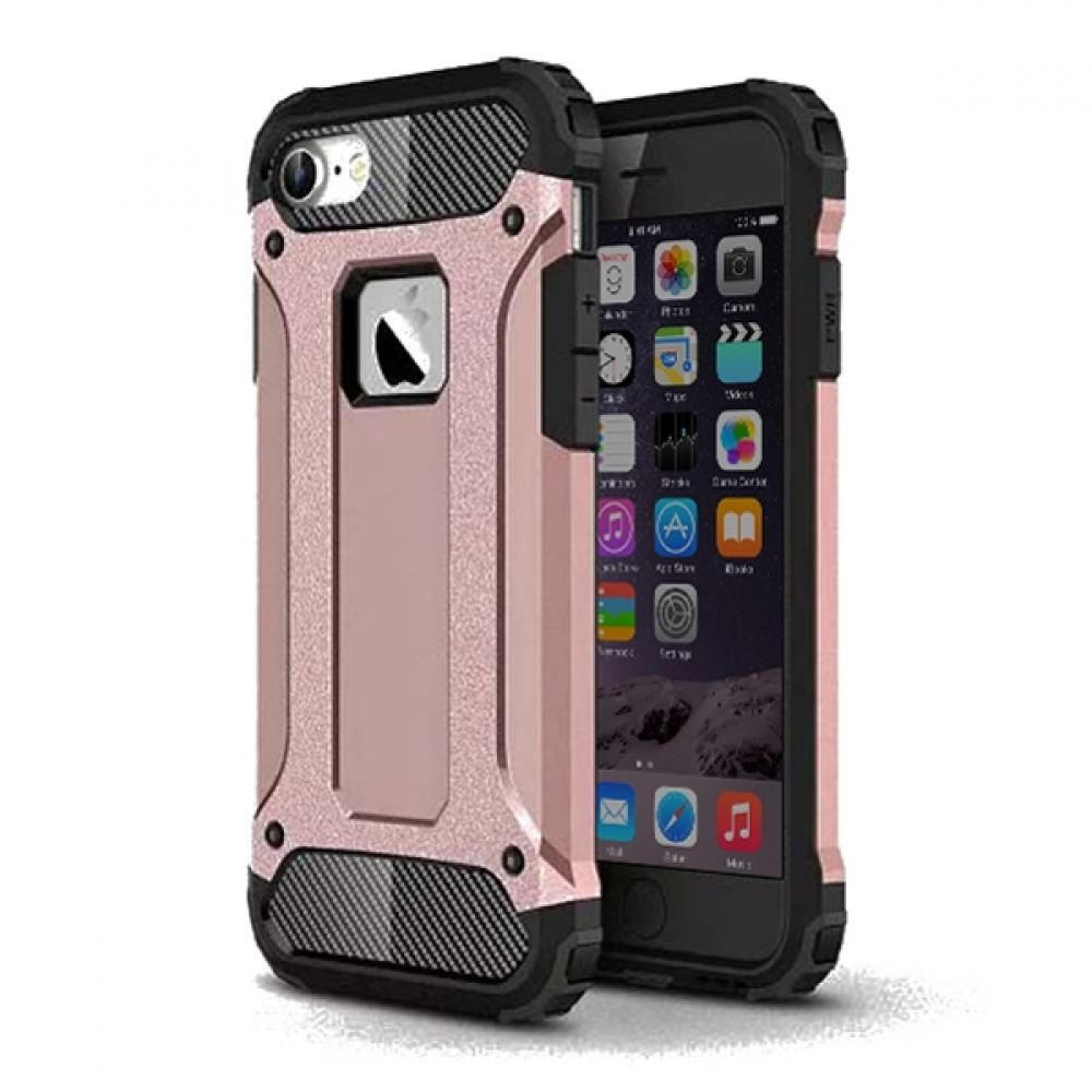iPhone 7 Hybrid Dual Layer Tough Armor Case (Rose Gold) :: PDair