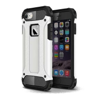 Hybrid Dual Layer Tough Armor Protective Case for Apple iPhone 7 (White)