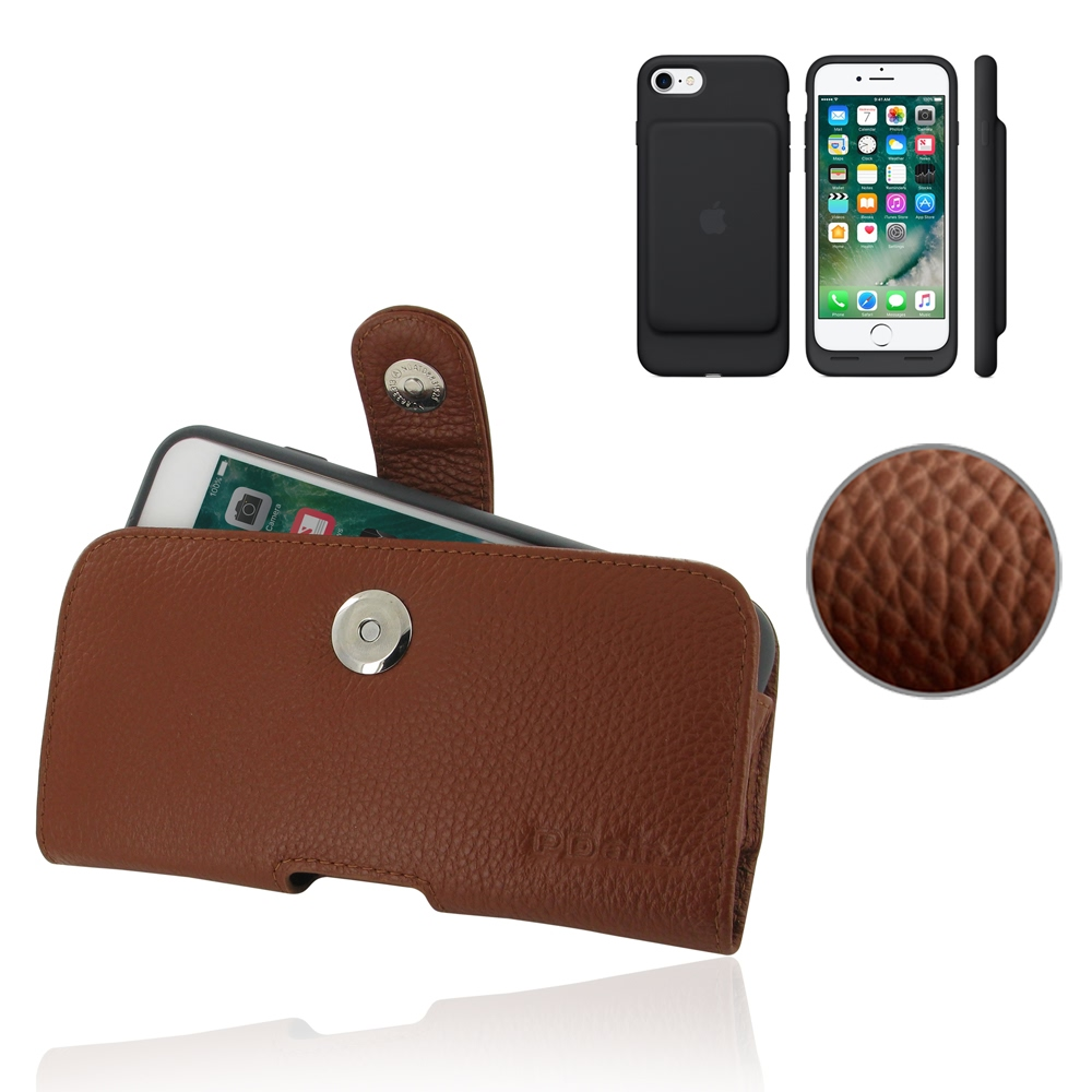 10% OFF + FREE SHIPPING, Buy PDair Protective  iPhone 7 in Official Smart Battery Case Genuine Leather Holster Case (Brown Pebble Genuine Leather)  You also can go to the customizer to create your own stylish leather case if looking for additional colors,