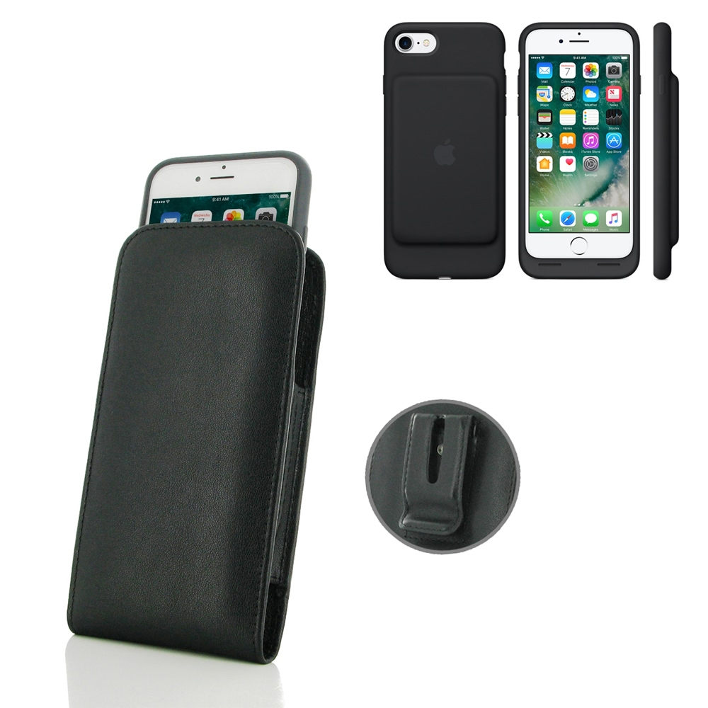 10% OFF + FREE SHIPPING, Buy Best PDair Handmade Protective iPhone 7 in Official Smart Battery Case Pouch Case with Belt Clip (Black Stitch) online. You also can go to the customizer to create your own stylish leather case if looking for additional colors
