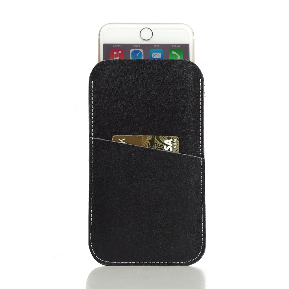 iPhone 7 Leather Card Holder Case PDair Premium Hadmade Genuine Leather Protective Case Sleeve Wallet