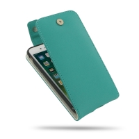 Leather Flip Top Wallet Case for Apple iPhone 7 (Aqua)