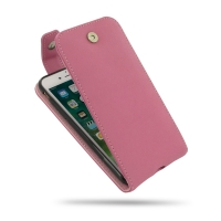 Leather Flip Top Wallet Case for Apple iPhone 7 (Petal Pink)