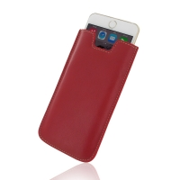 Leather Vertical Sleeve Pouch Case for Apple iPhone 7 (Red)