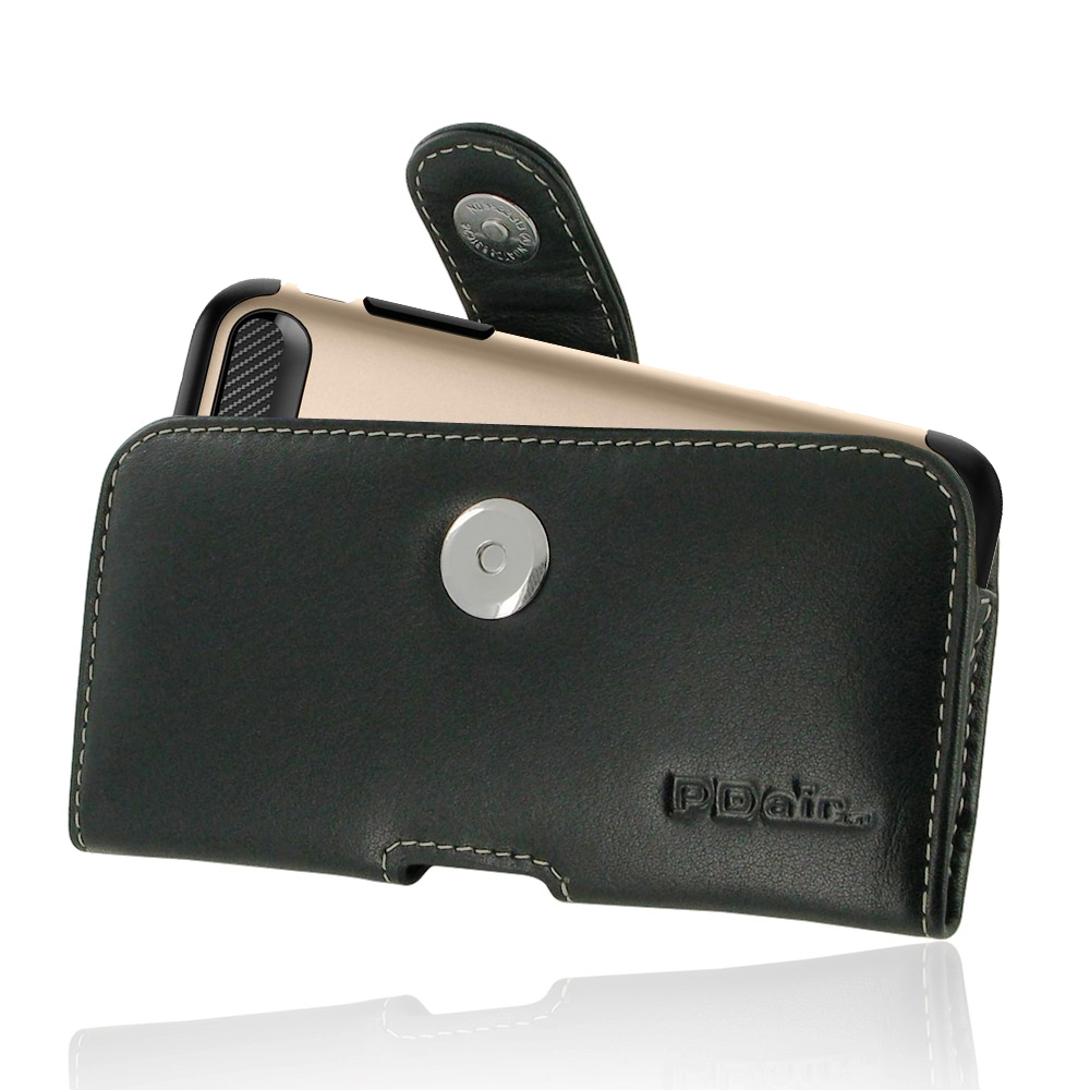 Leather Horizontal Pouch Case with Belt Clip for Apple iPhone 7 Plus (in Large Size Armor Protective Case Cover)