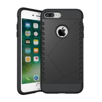 iPhone 7 Plus Hybrid Combo Aegis Armor Case Cover Black :: PDair
