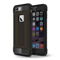 iPhone 7 Plus Hybrid Dual Layer Tough Armor Case (Black) :: PDair