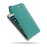 iPhone 7 Plus Leather Flip Top Wallet Case (Aqua) PDair Premium Hadmade Genuine Leather Protective Case Sleeve Wallet