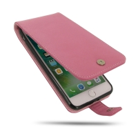 iPhone 7 Plus Leather Flip Wallet Case (Petal Pink) PDair Premium Hadmade Genuine Leather Protective Case Sleeve Wallet