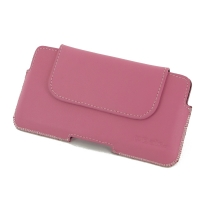 iPhone 7 Plus Leather Holster Pouch Case (Petal Pink) PDair Premium Hadmade Genuine Leather Protective Case Sleeve Wallet