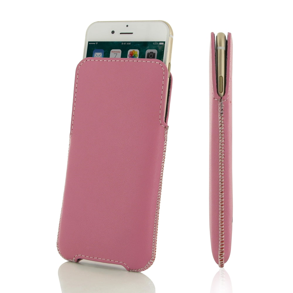 10% OFF + FREE SHIPPING, Buy Best PDair Quality Handmade Protective iPhone 7 Plus Genuine Leather Pocket Pouch (Petal Pink) online. You also can go to the customizer to create your own stylish leather case if looking for additional colors, patterns and ty