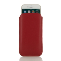 iPhone 7 Plus Leather Sleeve Case (Red) PDair Premium Hadmade Genuine Leather Protective Case Sleeve Wallet