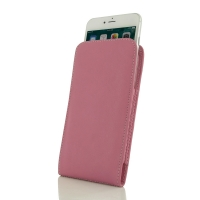 iPhone 7 Plus Leather Sleeve Pouch Case (Petal Pink) PDair Premium Hadmade Genuine Leather Protective Case Sleeve Wallet