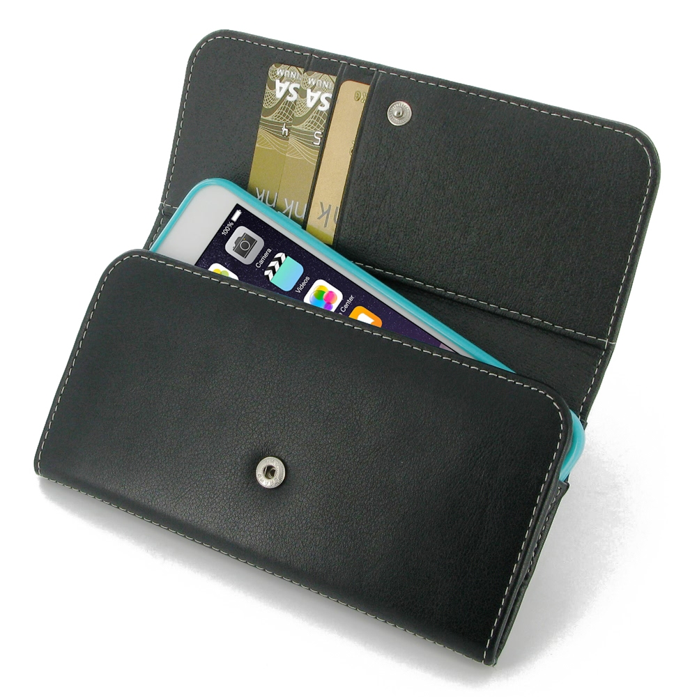 buy popular 0fe1b a8e99 Leather Wallet Case for Apple iPhone 7 Plus