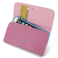 iPhone 7 Plus Leather Wallet Case (Petal Pink) PDair Premium Hadmade Genuine Leather Protective Case Sleeve Wallet
