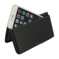 iPhone 7 Plus Leather Wallet Pouch Case (Black) PDair Premium Hadmade Genuine Leather Protective Case Sleeve Wallet