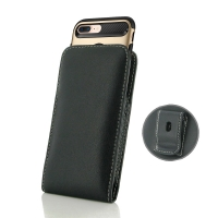 Leather Vertical Pouch Belt Clip Case for Apple iPhone 7 Plus (in Large Size Armor Protective Case Cover)