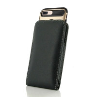 Leather Vertical Pouch Case for Apple iPhone 7 Plus (in Large Size Armor Protective Case Cover)