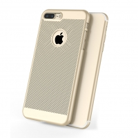 iPhone 7 Plus Ultra Slim Premium Matte Finish Mesh Hard Case (Gold):: PDair