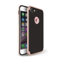 Gingham Pattern Plastic Case for Apple iPhone 8 (Rose Gold)
