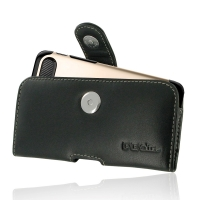 Leather Horizontal Pouch Case with Belt Clip for Apple iPhone 8 (in Large Size Armor Protective Case Cover)