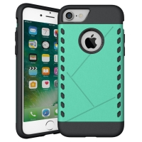 Hybrid Combo Aegis Armor Case Cover for Apple iPhone 8 (Green)