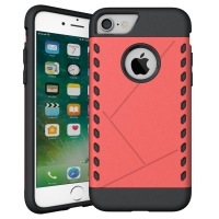 Hybrid Combo Aegis Armor Case Cover for Apple iPhone 8 (Pink)