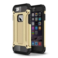 Hybrid Dual Layer Tough Armor Protective Case for Apple iPhone 8 (Gold)