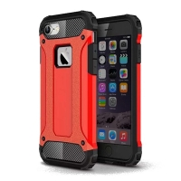 Hybrid Dual Layer Tough Armor Protective Case for Apple iPhone 8 (Red)