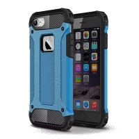 Hybrid Dual Layer Tough Armor Protective Case for Apple iPhone 8 (Skyblue)
