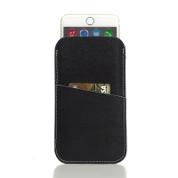 Simple Leather Card Holder Pouch Case for Apple iPhone 8