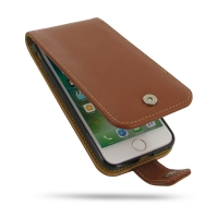 Leather Flip Wallet Case for Apple iPhone 8 (Brown)