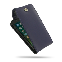 Leather Flip Top Wallet Case for Apple iPhone 8 (Purple)