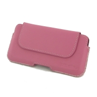 Luxury Leather Holster Pouch Case for Apple iPhone 8 (Petal Pink)