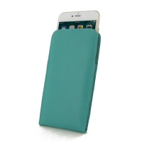 Leather Vertical Pouch Case for Apple iPhone 8 (Aqua)