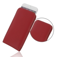 Leather Vertical Pouch Case for Apple iPhone 8 (Red)