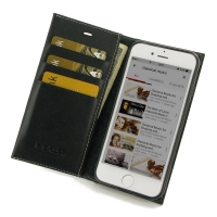Leather Book Stand Wallet Case for Apple iPhone 8