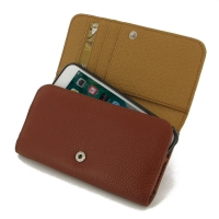 Leather Wallet Case for Apple iPhone 8 (Brown Pebble Leather)