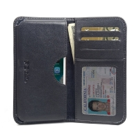 Leather Card Wallet for Apple iPhone 8 (Black Stitch)
