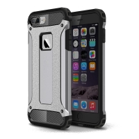 Hybrid Dual Layer Tough Armor Protective Case for Apple iPhone 8 Plus (Grey)