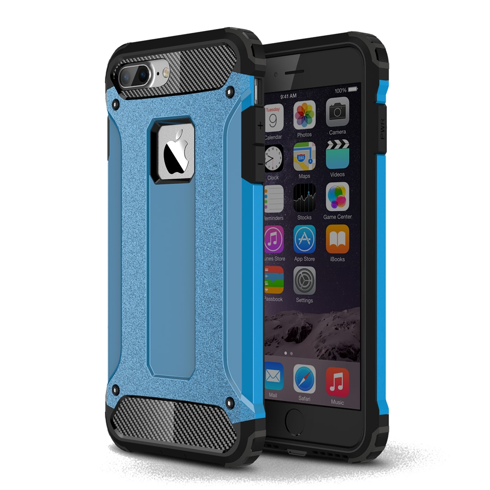 10% OFF + FREE SHIPPING, Buy Best PDair iPhone 8 Plus Hybrid Dual Layer Tough Armor Protective Case (Skyblue) online. Designed for iPhone 8 Plus. You also can go to the customizer to create your own stylish leather case if looking for additional colors, p