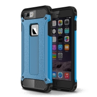Hybrid Dual Layer Tough Armor Protective Case for Apple iPhone 8 Plus (Skyblue)