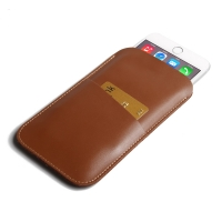 Simple Leather Card Holder Pouch Case for Apple iPhone 8 Plus (Brown)
