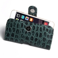 Leather Horizontal Pouch Case with Belt Clip for Apple iPhone 8 Plus (Green Crocodile Pattern)